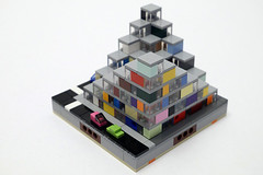 Panntone Square - Right (cazphoto.co.uk) Tags: jun18 14block lego micropolis microscale moc myowncreation residentialzone flats apartments housing panntonesquare sloped colourful