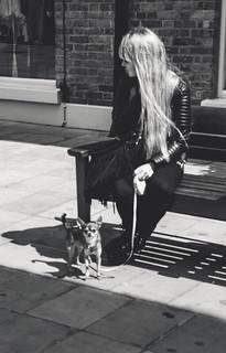 Bodyguard.   #makeamove #nervousfreaks #portraitcentral #graphic #bodyguard #friendsinperson #humanedge #streetportrait #streetshot #capturestreet #pursuitofportraits #of2humans #lightandshadow #moodygrams #thisislondon #art #streetphotography #london #lo