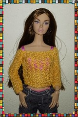 Violet (fairy*flowers) Tags: poppy parker air integrity toys fashion doll handmade knitt dress outfit barbie top model jeans sweater underwear