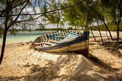 Beached (Rod Waddington) Tags: africa african afrique afrika madagascar malagasy boat fishing beached trees sand beach bay water ocean sea outdoor