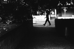 Headless through the streets (Leica M6) (stefankamert) Tags: stefankamert street headless walking man black noir blackandwhite blackwhite leica leicam6 m6 summicron dr dualrange rollei retro400s film analog grain tones silhouette ion et bw