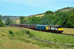 20031 50035 Haworth (British Rail 1980s and 1990s) Tags: train rail railway loco locomotive yorkshire livery liveried traction diesel preservation preserved heritageline dieselgala kwvr keighleyworthvalleyrailway 50thanniversarygala passenger locohauled 20 50 class20 class50 blue railfreight grey br ee britishrail englishelectric type1 type4 20031 50035 arkroyal railroad