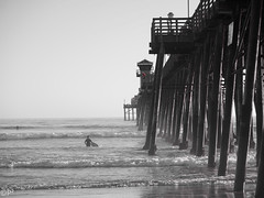 Surfer and Spectator... (THE.ARCH) Tags: oceanside pacificocean california beach pier surf surfer