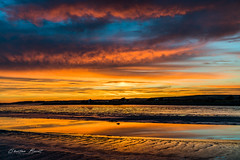 Ireland 2018 - Sunset at Blennerville (cesbai1) Tags: rouge orange bleu jaune coucher de soleil sunset blennerville county kerry ireland irlande irlanda erie emerauld island ile démeraude