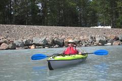 Ernest! (DuckShepherd) Tags: kayak kayaking alaska summer 4thofjuly independenceday boat boating river water float