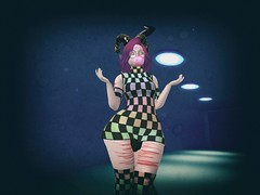 PastelGoth at Versus event! {ToxicDolls Blogpost} (ღĄηϊʈα Ďeceιt Xɨøn ℒąѴℯƴღ) Tags: pastel goth girly bubble cute kawaii creepy slime checkerboard checker moons blood cross crosses dress sneakers leggings tanktops platforms versusevent versus event july blog blogpost toxicdolls second life secondlife sl snapshot screenshot