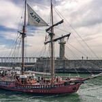 The Atyla passes Whitby lighthouse. thumbnail