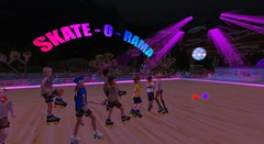 Scouts at Skate - O - Rama (cadeSL) Tags: secondlife sl second life virtual world scout scouts boy kids children youth uniform skate roller dance disco music 80s 70s summer open air rink