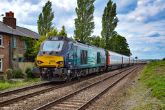 68001 + 68004 - Cantley - 16/06/18. (TRphotography04) Tags: direct rail services drs 68001 evolution 68004 rapid rush past cantley hauling 2c69 1447 great yarmouth norwich the 68s topntailed greater anglia dvt 82112 8mk3s provided two topntail class 68 sets for airshow