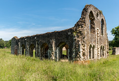 Waverley Abbey (Keith in Exeter) Tags: waverley abbey farnham surrey monastery cictercian church ruins english heritage architecture building landscape arch wall stonework grass field sky tree