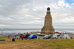Dundee Law (Geoff Henson) Tags: hill view monument cars litter clouds river estuary sky water grass scotland