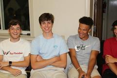 BOSH Volunteers Alex Koons, Charlie Whaley, Alexander Fuller