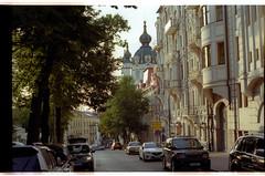 Desyatinna st. (mgerasym) Tags: kyiv kiev ua ukraine ukrainenowua nikonf70 voigtlandernokton58mmf14slii lomographycn100 film 35mm