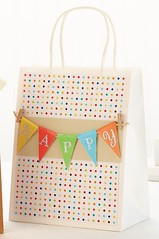 Gift Wrapping Inspiration : Happy+Banner+Gift+Bag idea (giftsmaps.com) Tags: gifts