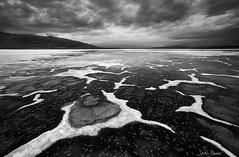 Salt Amoebas (Sarah Marino) Tags: deathvalleynationalpark deathvalley desert mojavedesert california blackwhite naturephotography nature saltflats