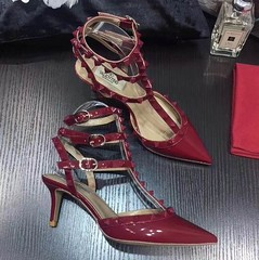Valentino Stud Ankle Strap 65mm Patent Pumps Wine (coach0001) Tags: valentino stud ankle strap 65mm patent pumps wine
