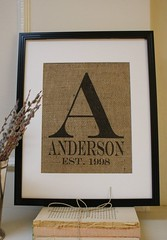 Gift Wrapping Ideas: painted burlap…must get paint, stencils, and frames…these could be really cu… (giftsmaps.com) Tags: gifts