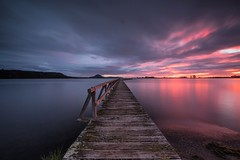 Third Time Lucky (Antony Eley) Tags: sunrise lit glow epic colour cloud pink wharf jetty lake landscape nature