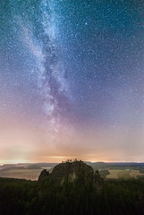 Rauschenstars reloaded (derliebewolf) Tags: milkyway natur stars nightshot astrophotography astroscape nightscape nature landscape nationalpark saxony saxonswitzerland germany summer hiking midnight mountains sandstone vacation travel traveling backcountry