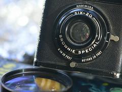 Macro Mondays  ~Camera theme (Karen McQuilkin) Tags: selfie brownie camera vintage midcentury mid 50s old school macromondays cameratheme 150starpaintings bookonstars browniespecial