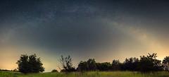 Milkyway Arc (redfurwolf) Tags: milkyway arc outdoor landscape sky stars light tree field grass nightsky night nightphotography redfurwolf sonyalpha a7rm3 a7riii sony munich garching mallertshoferheide outdoors nature awesome epic panorama pano