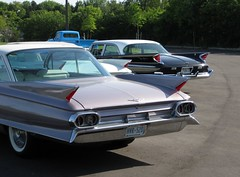 1960s tail fins (60Fire) Tags: tailfin cadillac desoto internationalharvester 1960 1961 1963 classiccar mississauga 1960s twotone chrome ontario canada