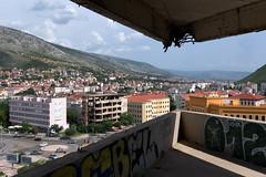 Snipertower in Mostar - Bosnia and Herzegovina