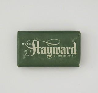 Vintage Travel Guest Soap - Hotel Hayward, Los Angeles, Calif.