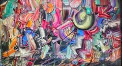 "#josephallenart ""Pulsing with sight, burgeoning unconsciousness in unision"" June 2018 16.25""x28.5"" #oiloncanvas #abstractpainting (josephallenart) Tags: josephallenart oiloncanvas abstractpainting"