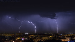2018.06.21 - 223052 (NIKON D7200) [Amora] (Nuno F. C. Batista) Tags: clouds nuvens amora seixal portugal lusoskies lightning relâmpago thunderstorm trovoada storm night sky nikon severeweather storms photography margemsul skies portuguese meteorology cumulunimbus d7200