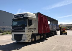 Loading in Felixstowe (South Strand Trucking) Tags: load shunting shunt transport warehouse yard pallets forklift daf lorry