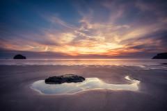 Trebarwith (Timothy Gilbert) Tags: trebarwith coast beach wideangle sunset gx8 m43 microfourthirds panasonic laowacompactdreamer75mmf20 microfournerds ultrawide cornwall lumix rocks