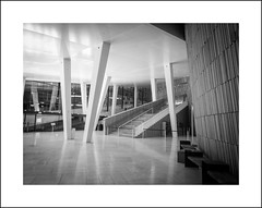 Oslo opera interior in b&w I (Christa (ch-cnb)) Tags: oslo opera norway norge olympus tough tg4 snøhetta architecture blackandwhite