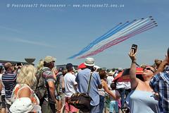 9351 Reds arrival (photozone72) Tags: aviation airshows aircraft airshow canon canon80d canon24105f4l 80d yeovilton yeoviltonairday raf redarrows reds redwhiteblue rafat