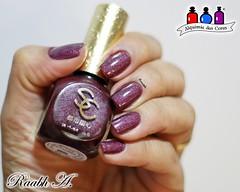 Sweet City - MDS 05 (Raabh Aquino) Tags: macromademoiselle holo nails unhas burgundy