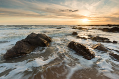 Gold #3 (Nicolas Gailland) Tags: seascape nature paysage sea ocean landscape sunset colors waves water sun canon france hitech filter nd gnd olonne sablesdolonne