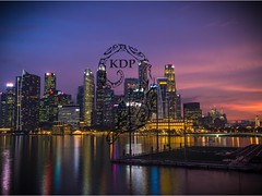 Citylights (Kimo Diaz Photography) Tags: singapore sunset architecture hotel travel landscape city light night purple blue dramatic ocean river bay adventure hdr beautiful naturallight kimodiaz kimo diaz photography