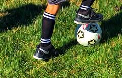 The Game (amarilloladi) Tags: 7dwf crazytuesdaytheme soccer field cleats ball morninglight megasportscamp
