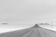 towards Drumheller (mjwpix) Tags: towardsdrumheller road travel snow silos landscape telegraphpoles canadianprairies michaeljohnwhite mjwpix canoneos5dmarkiii ef85mmf18usm cold winter