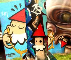 graffiti in Eindhoven (wojofoto) Tags: eindhoven nederland netherland holland graffiti streetart berenkuil stepinthearena wojofoto wolfgangjosten kbtr deutrechtsekabouter utrechtsekabouter