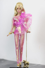 Poppy Parker Pink and Gold (halscary) Tags: poppy parker fashion royalty integrity toys ma petit fleur dog pink drag race hologram color infusion doll