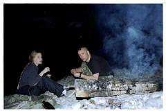 flash light (StrategieDerOrdnung) Tags: campfire bonfire fire camping evening night abend dämmerung lagerfeuer feuer feuerstelle biketour bicycletour radtour fahrradtour bavaria bayern isar river girl woman mädchen frau natur nature