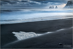A BLEAK AND BEAUTIFUL REYNISDRANGAR SUNSET (vieribottazzini) Tags: iceland islanda reynisdrangar sunset tramonto bleak beautiful seascape landscape leica leicasl formatthitech firecrest ultra longexposure workshop amazing beauty cold cool mood moody waves clouds flickrunitedaward