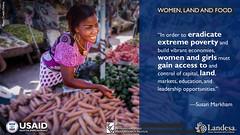 USAID_WLF_2015-10.jpg (USAID/Land) Tags: farmersmarket usaidflickr fintracinc susanmarkham landrights landmatters woman internationalwomensday pinkdress 2015 quote veggies vegetables wlf