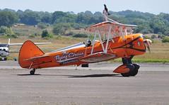 SE-BOG (1) (goweravig) Tags: sebog boeing stearman kaydet visiting aerosuperbatics wingwalkers 2 swanseaairport wnas18 aircraft swansea wales biplane uk