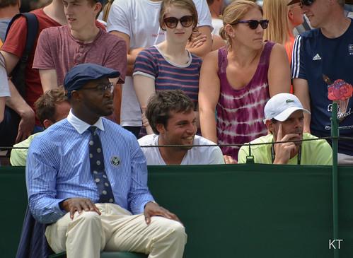 Pablo Cuevas - Team Cuevas watching the doubles match