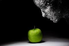 Face It (johnsinclair8888) Tags: apple stilllife green face tabletop nikon johndavis affinityphoto head 50mm d750 art color bw interesting