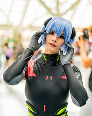 Ayanami Rei (Sometimes Convention) Tags: cosplay anime expo convention los angeles la center daylight natural light nerd geek woman costume character fantasy cosplayer indoors bokeh sony alpha a7r3 a7riii manga comic fan fandom art 50mm 50 video game evangelion rei black