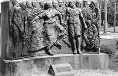 Memorial To The Slaves (bongo najja) Tags: orleans new slaves to memorial f2 nikon tmax kodak