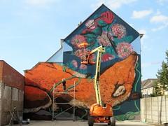 Bastardilla & Erica il Cane / Ham - 17 jul 2018 (Ferdinand 'Ferre' Feys) Tags: gent ghent gand belgium belgique belgië streetart artdelarue graffitiart graffiti graff urbanart urbanarte arteurbano ferdinandfeys ericailcane bastardilla
